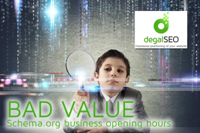 Schema.org Bad Value for business opening hours mark-up