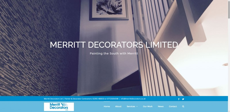 Merritt Decorators Ltd's Painting & Decorating Contractors Website