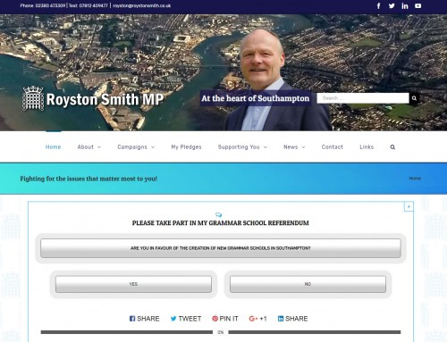 Political Websites: Royston Smith Conservative MP Website Design