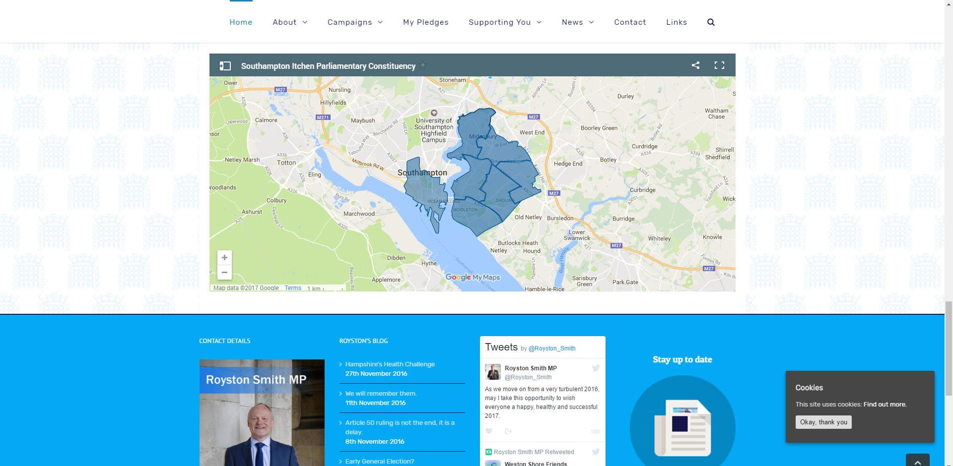 Royston Smith MP Website with Custom Google Map